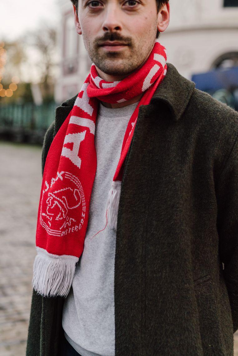 Voogd: 'Ik kom uit Amsterdam en hou van voetbal, dan ben je bijna automatisch voor Ajax'.  Beeld Jordi Huisman