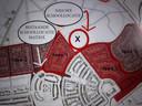 Kaartje uit het Integraal Huisvestingsplan van de Hardenbergse wijk Marslanden met daarin brede school De Matrix en een nieuw te bouwen school voor OBS De Kern en voor de leerlingen van het gereformeerd onderwijs.