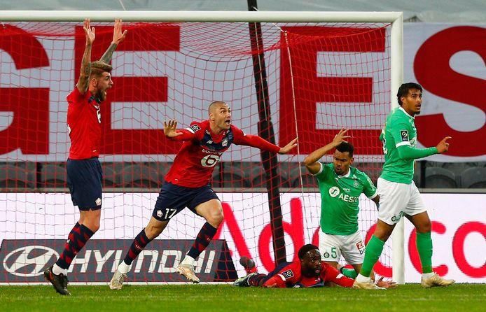 Lille a poussé, mais n'a pas trouvé l'ouverture contre Saint-Etienne.