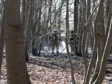 Brand in het Langenboomse bos