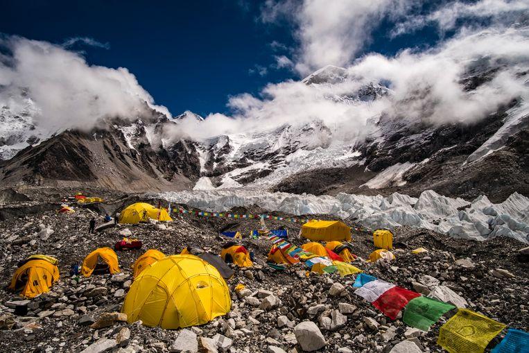 Tentenkamp op de Mount Everest.  Beeld Getty Images