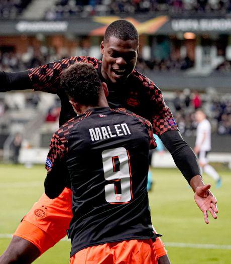PSV dankzij sterke eerste helft fluitend naar zege bij Rosenborg