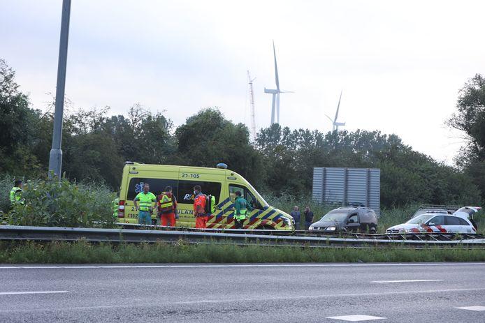 Ongeluk op A59 Den Bosch.