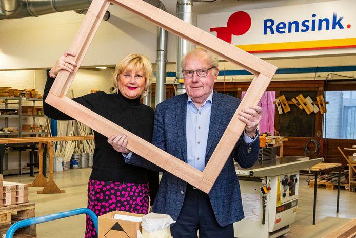 Gerdy Pusceddu-Smoes  en haar vader Jans Smoes.
