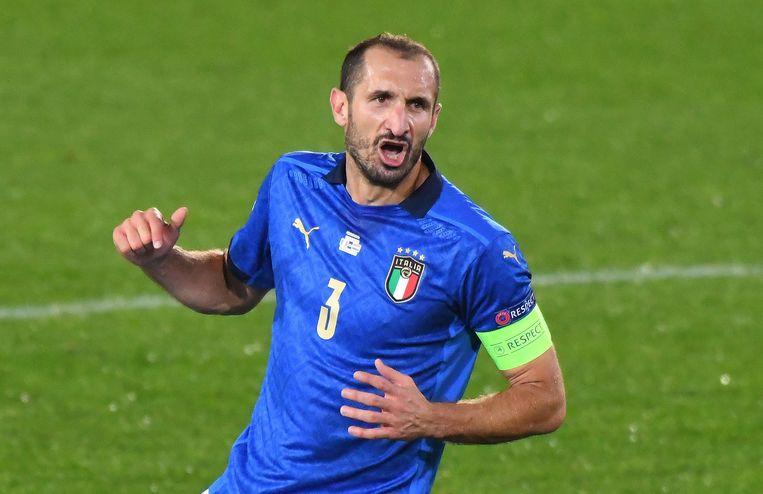 Giorgio Chiellini, 36 jaar, 107 interlands voor Italië, 8 goals. Beeld Getty Images