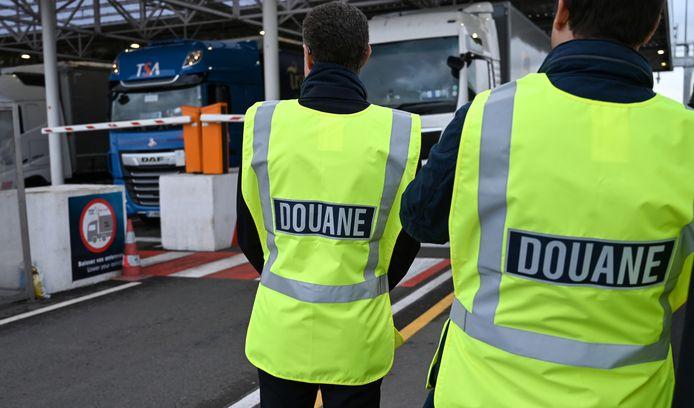 Douane bij Calais.