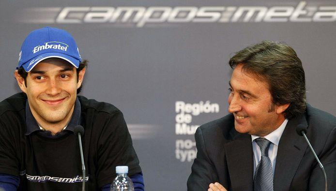 Adrián Campos (rechts) naast Bruno Senna.