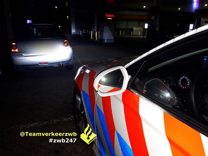 Spookrijder aangehouden ter hoogte van Waalwijk.
