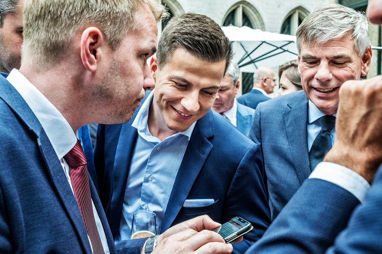 Vlaams Belangers op 11 juli.  Beeld Tim Dirven