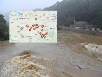 IN KAART. Ongeziene zondvloed over België met minstens 23 slachtoffers en zware schade: een overzicht provincie per provincie en laatste stand van zaken