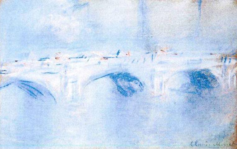 Claude Monet: 'Waterloo Bridge, London' (1901)<br /><br /><strong>De schilderijen die vorig jaar uit de Kunsthal in Rotterdam zijn gestolen, zijn hoogstwaarschijnlijk allemaal verbrand. Het gaat om zeven schilderijen met een geschatte waarde van 18 miljoen euro van onder anderen Monet, Matisse, Picasso en Gauguin. De kunstwerken zijn verbrand in de de woning van de moeder van hoofdverdachte Radu Dogaru in het Roemeense dorpje Carcaliu</strong> Beeld AP