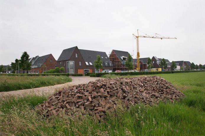 Bouw op Groot Holthuizen. Archieffoto.