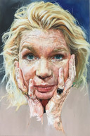 Dit portret van kunstenares Suzan Schuttelaar vervulde de geportretteerde, actrice Tjitske Reidinga, met afschuw. 'Het dóet me wel heel veel.'