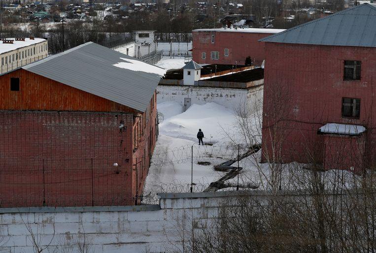 het strafkamp waar Navalny gevangen zit. Beeld REUTERS