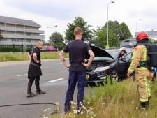Geluk bij een ongeluk bij spontaan in brand gevlogen auto in Veldhoven