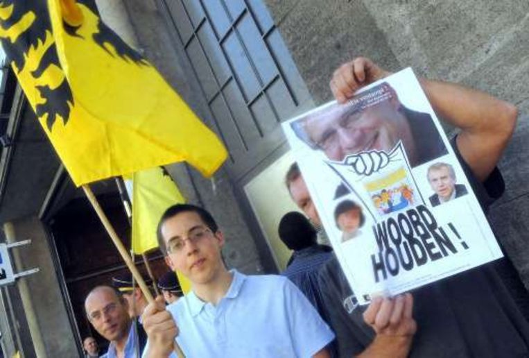 Manifestanten van VVB. Beeld UNKNOWN