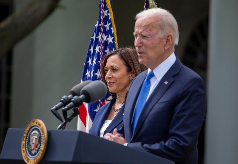 President Joe Biden en vicepresident Kamala Harris van de Verenigde Staten. Beeld EPA
