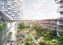 Eén van de projecten, Imagine, ligt op de grens van Parkstad, op de hoek van de Laan op Zuid en de Rosestraat en hiermee markeert deze ontwikkeling feitelijk de start van de gebiedsontwikkeling Feyenoord City.
