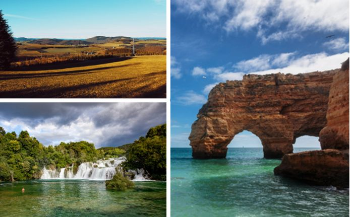 Natuur opsnuiven in het Duitse Sauerland, een autovakantie naar de watervallen van Krka in Kroatië of genieten van een heerlijke nazomer in de Portugese Algarve? Er is voor elk wat wils voor wie momenteel voordelig op reis wil.