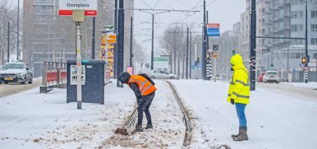 Slechts vier RET-trams rijden: 'We hebben de informatieborden maar uitgezet'