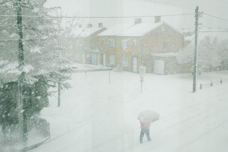 Sneeuw in Zomergem Beeld Wouter Van Vooren