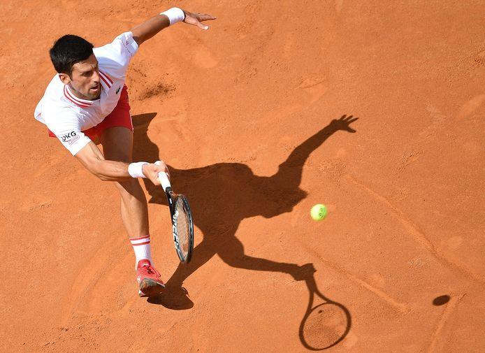Novak Djokovic is in Rome goed op dreef.