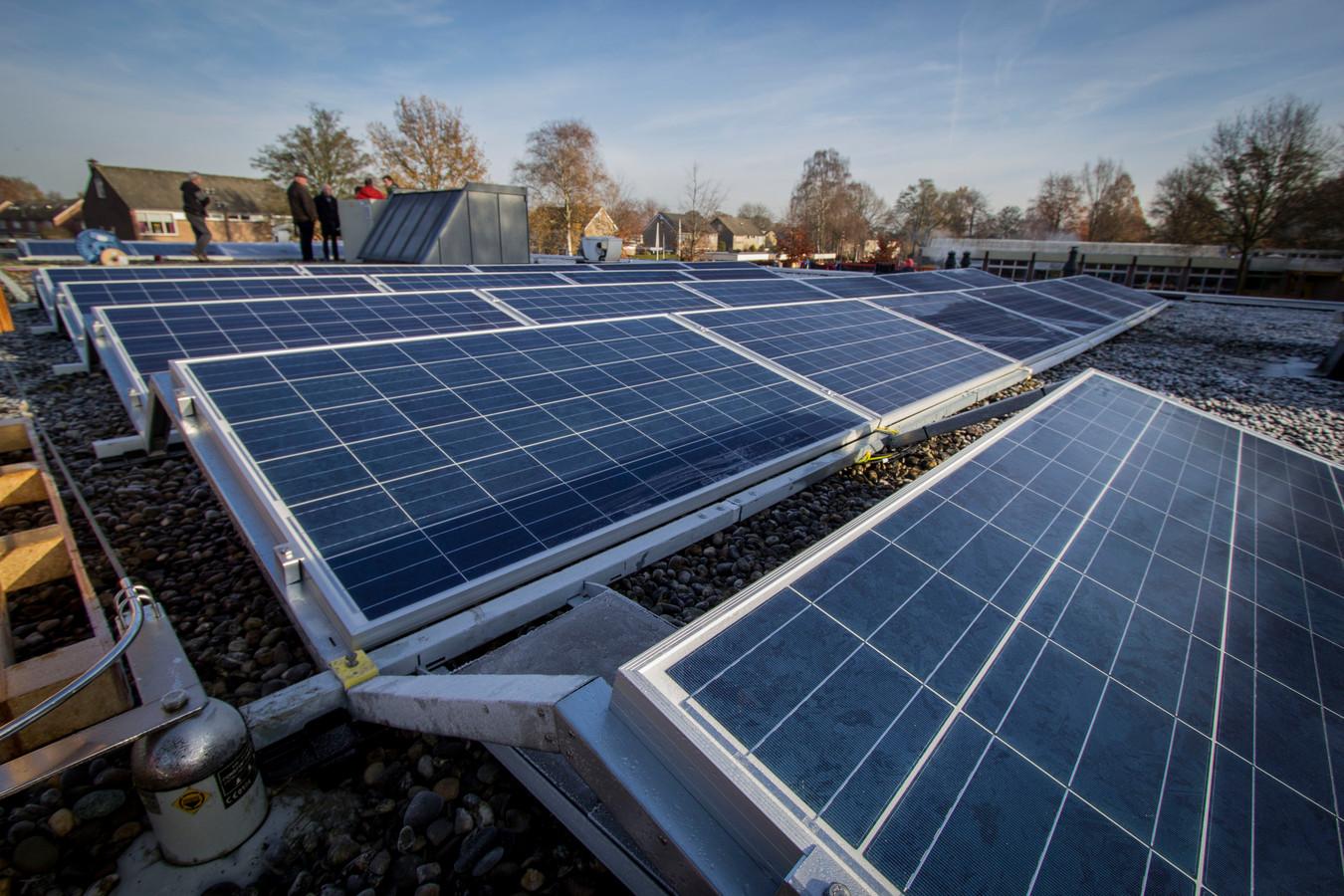 In Berkelland is 2,55 miljoen vierkante meter dakoppervlak geschikt om er zonnepanelen op te leggen.