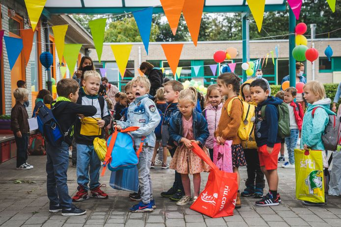 De eerste schooldag op De Klaver.