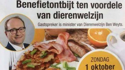 N-VA promoot vegetarisch ontbijt ten voordele van dierenwelzijn... met spek en worst
