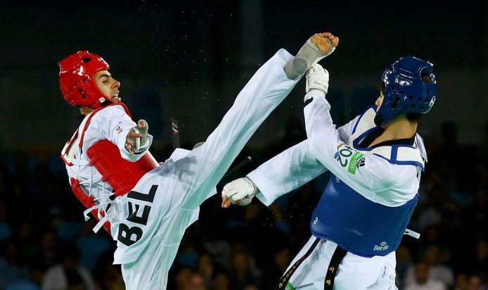 Jaouad Achab op de Olympische Spelen in Rio.