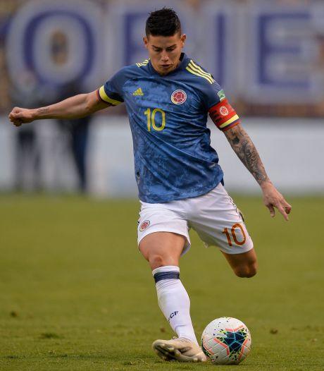 Colombia zonder sterspeler James Rodríguez op Copa América