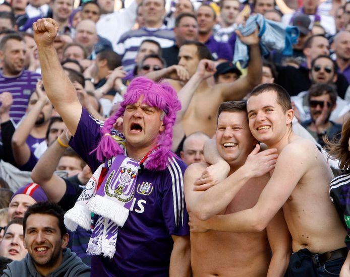 Anderlecht-supporters vieren het kampioenschap, 2010.