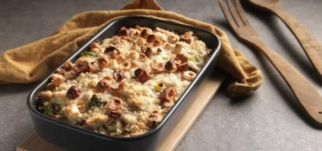 Wat Eten We Vandaag: Aardappelgratin met prei, biet en geitenkaas