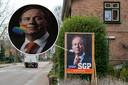 Op verkiezingsposters van SGP in Ermelo zijn regenbooghartjes geplakt, ook bij wethouder Leo van der Velden in de voortuin. Kort nadat hij daar telefonisch op is gewezen, zijn de hartjes verdwenen en resteert een witte vlek.