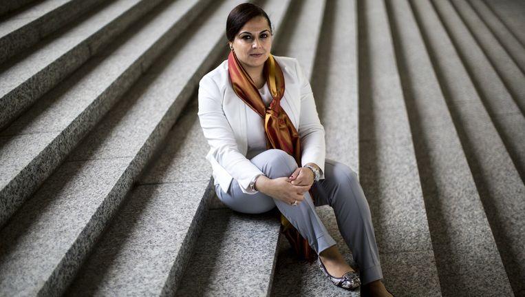 Portret van de Nederlandse econoom Karima Kourtit. Aan de Vrije Universiteit werd ze beschuldigd van plagiaat. Beeld Julius Schrank