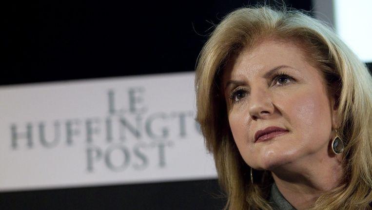 Arianna Huffington bij de presentatie van de Franse Huffington Post in januari 2012. Beeld EPA