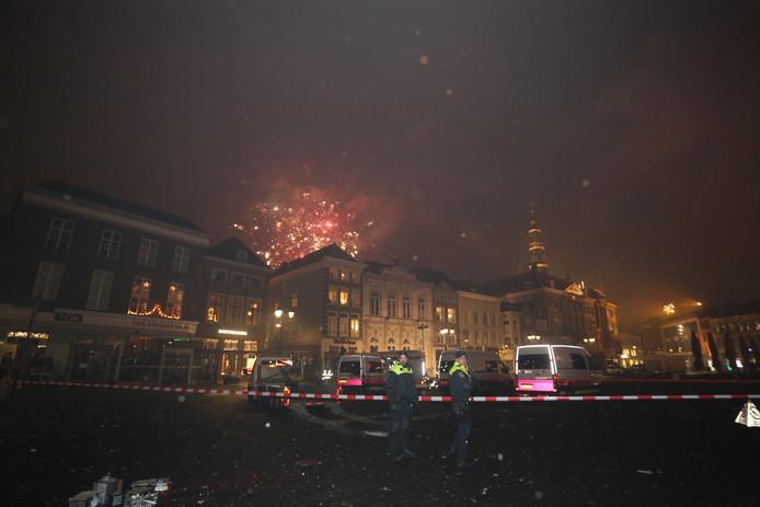 Vuurwerk zorgde voor een gaslek op de Markt in Den Bosch.