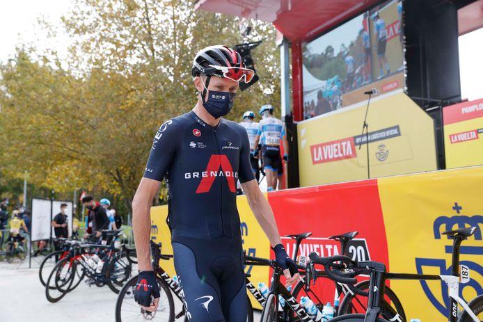 Chris Froome tijdens de Vuelta a España.