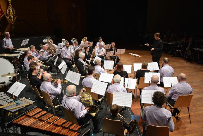 De Koninklijke Harmonie Sinte-Cecilia tijdens het vorige winterconcert
