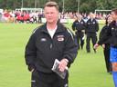 Louis van Gaal als trainer van AZ in Terwolde.