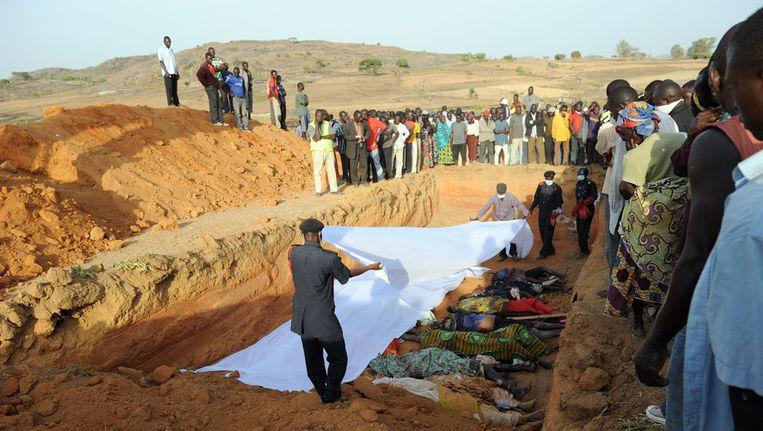 Bij eerdere gevechten tussen de Fulani en de Hausa in Dogo Nahawa (2010) kwamen ook al tientallen mensen om het leven. Beeld AFP