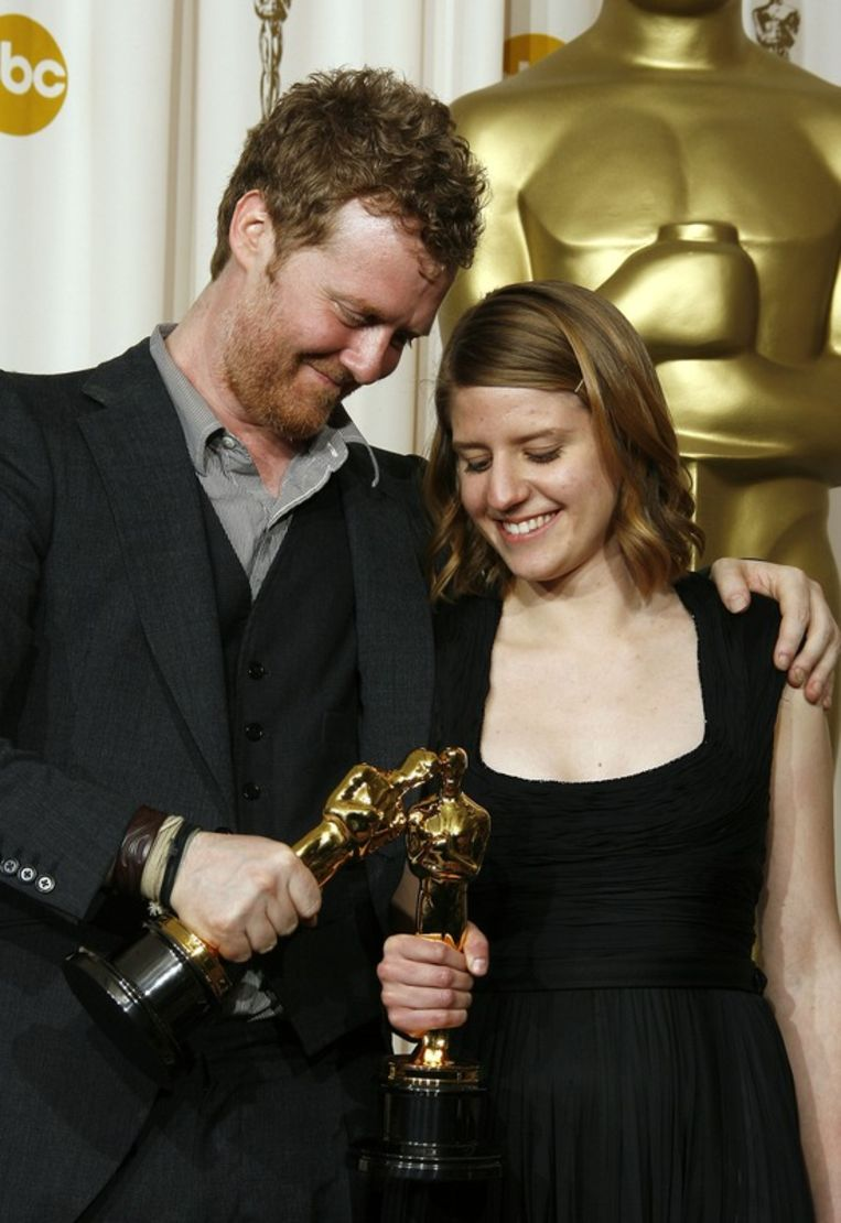 Glen Hansard en Markéta Irglová wonnen Beste Song voor 'Once'. Beeld UNKNOWN