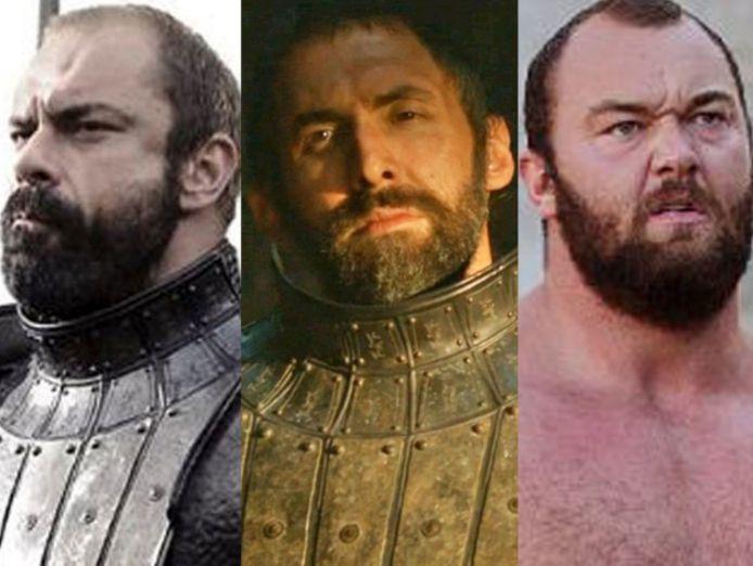 The Mountain werd gespeeld door drie acteurs.