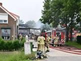 Grote brand verwoest landbouwschuur in Poortvliet