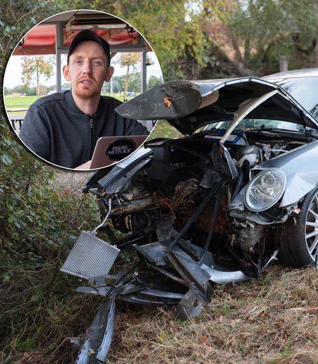 Peperdure Porsche (net uit garage) crasht: 'Ik laat er eigenlijk nooit iemand in rijden'