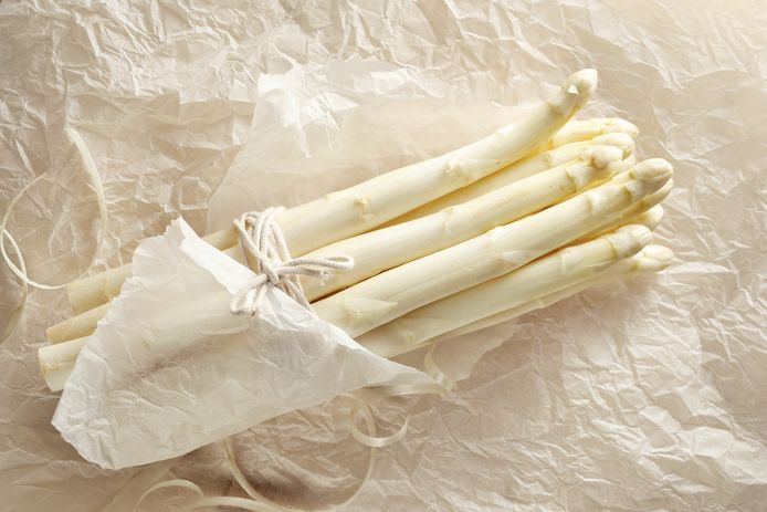 De klassieke witte asperge.