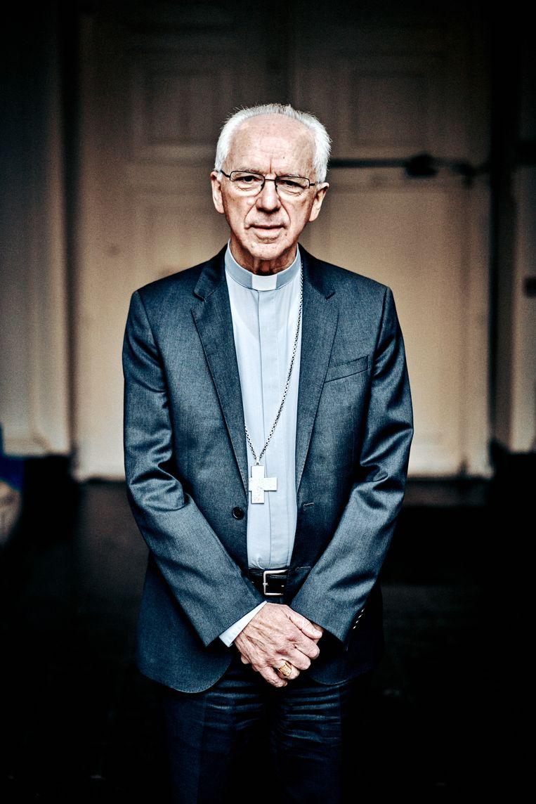 Kardinaal De Kesel: 'Men spreekt over 'de hardwerkende Vlaming', maar bij de mensen die nauwelijks rondkomen, zijn er ook veel hardwerkende mensen.' Beeld Thomas Sweertvaegher