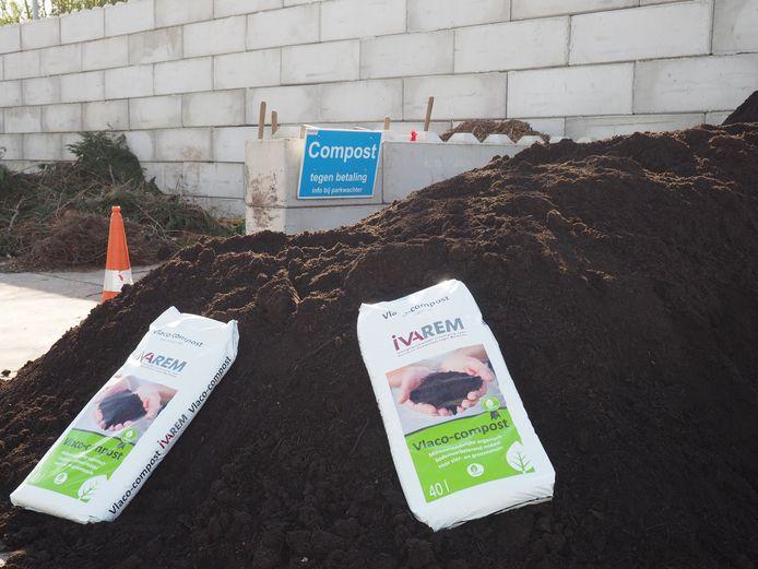 Compost in het IVAREM-recyclagepark in Mechelen-Noord.