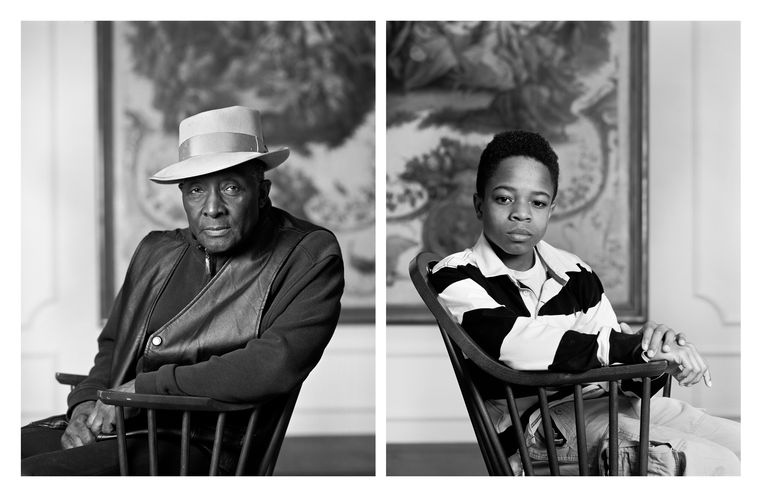 Dawoud Bey, 'Fred Stewart II and Tyler Collins', uit de serie 'The Birmingham Project', 2012.  Beeld Ter beschikking gesteld door Rena Bransten Gallery, San Francisco en Rennie Collection, Vancouver