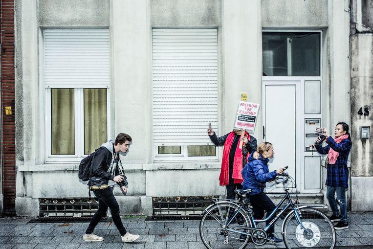 Manifestatie tegen Francken Manifestatie tegen Francken Beeld null